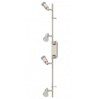 EGLO 90826 | Eridan Eglo fali, mennyezeti lámpa elforgatható alkatrészek 4x GU10 1600lm 3000K matt nikkel