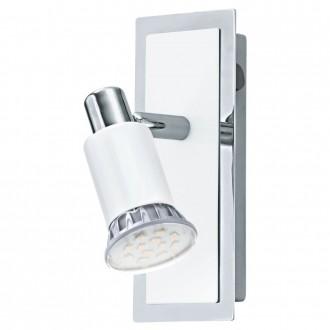 EGLO 90831 | Eridan Eglo fali lámpa kapcsoló elforgatható alkatrészek 1x GU10 400lm 3000K króm, fényes fehér