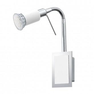 EGLO 90832 | Eridan Eglo fali lámpa vezeték kapcsoló flexibilis 1x GU10 400lm 3000K króm, fényes fehér