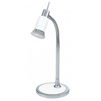 EGLO 90838 | Eridan Eglo asztali lámpa 34cm vezeték kapcsoló flexibilis 1x GU10 400lm 3000K króm, fényes fehér