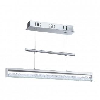 EGLO 90928 | Cardito Eglo függeszték lámpa ellensúlyos, állítható magasság 1x LED 1800lm 3000K króm, áttetsző