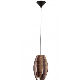EGLO 91008 | Mongu Eglo függeszték lámpa 1x E27 barna
