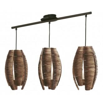 EGLO 91012 | Mongu Eglo függeszték lámpa 3x E27 barna
