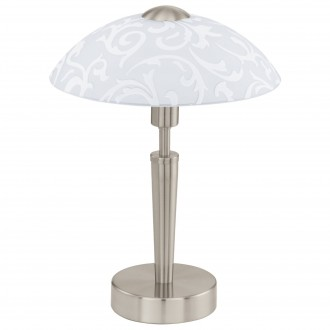 EGLO 91238   Solo1 Eglo asztali lámpa 32cm fényerőszabályzós érintőkapcsoló szabályozható fényerő 1x E14 matt nikkel, szatén