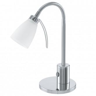 EGLO 91465 | Cariba Eglo asztali lámpa 30cm vezeték kapcsoló flexibilis 1x G9 króm, fehér