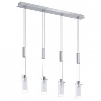 EGLO 91546 | Aggius Eglo függeszték lámpa ellensúlyos, állítható magasság 4x LED 1600lm 3000K króm, fehér, áttetsző