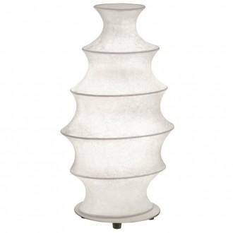 EGLO 91943 | Tonnara Eglo asztali lámpa 37cm vezeték kapcsoló 1x E27 matt nikkel, fehér
