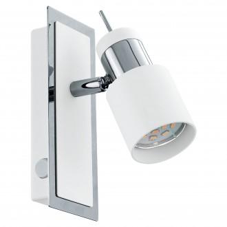 EGLO 92084 | Davida Eglo fali lámpa kapcsoló elforgatható alkatrészek 1x GU10 400lm 3000K króm, fehér