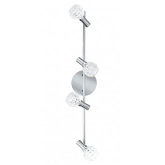 EGLO 92105 | Hania Eglo fali, mennyezeti lámpa elforgatható alkatrészek 4x LED 916lm 3000K króm, átlátszó