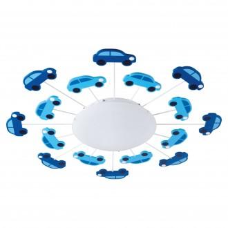 EGLO 92146 | Viki_1 Eglo fali, mennyezeti lámpa 1x E27 kék, fehér