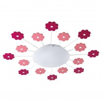 EGLO 92147 | Viki_1 Eglo fali, mennyezeti lámpa 1x E27 rózsaszín, fehér