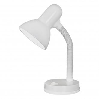 EGLO 9229 | Basic Eglo asztali lámpa 30cm kapcsoló flexibilis 1x E27 fehér