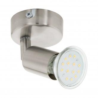 EGLO 92595 | Buzz-LED Eglo spot lámpa elforgatható alkatrészek 1x GU10 240lm 3000K matt nikkel