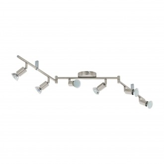 EGLO 92599 | Buzz_LED Eglo fali, mennyezeti lámpa elforgatható alkatrészek 6x GU10 1440lm 3000K matt nikkel