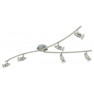 EGLO 92645 | Magnum_LED Eglo fali, mennyezeti lámpa elforgatható alkatrészek 6x GU10 1440lm 3000K matt nikkel, króm