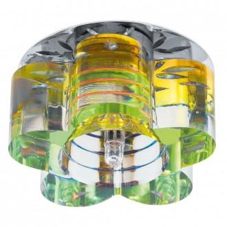 EGLO 92691 | Tortoli_8 Eglo beépíthető lámpa Ø90mm 1x G4 króm, fluoreszkáló
