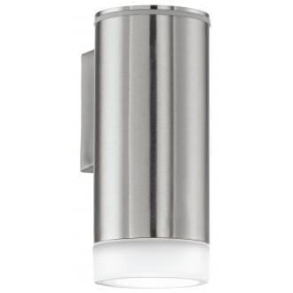 EGLO 92735 | RigaLED Eglo fali lámpa 1x GU10 200lm 4000K IP44 nemesacél, rozsdamentes acél