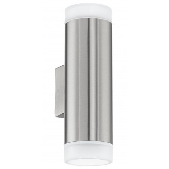 EGLO 92736 | RigaLED Eglo fali lámpa 2x GU10 400lm 4000K IP44 nemesacél, rozsdamentes acél
