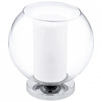 EGLO 92763 | Bolsano Eglo asztali lámpa 20cm vezeték kapcsoló 1x E27 króm, áttetsző, fehér