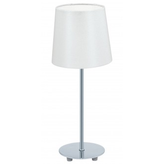 EGLO 92884 | Lauritz Eglo asztali lámpa 39,5cm vezeték kapcsoló 1x E14 króm, fehér