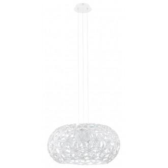 EGLO 92887 | Silvestro-1 Eglo függeszték lámpa 2x E27 fehér, áttetsző