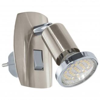 EGLO 92924 | Mini-4 Eglo konnektorlámpa lámpa kapcsoló 1x GU10 240lm 3000K matt nikkel, króm