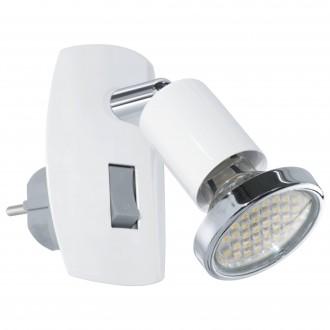 EGLO 92925 | Mini-4 Eglo konnektorlámpa lámpa kapcsoló 1x GU10 240lm 3000K fehér, króm