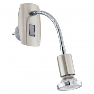 EGLO 92933 | Mini-4 Eglo konnektorlámpa lámpa kapcsoló 1x GU10 240lm 3000K matt nikkel, króm