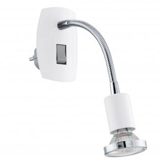 EGLO 92934 | Mini-4 Eglo konnektorlámpa lámpa kapcsoló 1x GU10 240lm 3000K fehér, króm