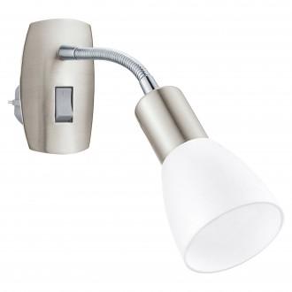 EGLO 92935 | Dakar-3 Eglo konnektorlámpa lámpa kapcsoló flexibilis 1x E14 matt nikkel, króm