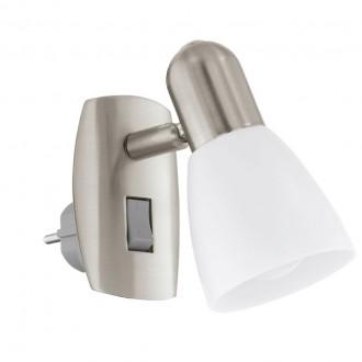 EGLO 92938 | Dakar-4 Eglo konnektorlámpa lámpa kapcsoló 1x E14 matt nikkel, króm