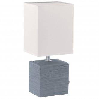 EGLO 93044 | Mataro Eglo asztali lámpa 30cm vezeték kapcsoló 1x E14 szürke, fehér