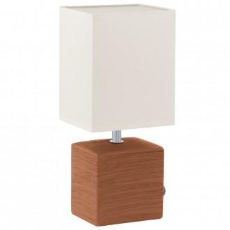 EGLO 93045 | Mataro Eglo asztali lámpa 30cm vezeték kapcsoló 1x E14 barna, fehér