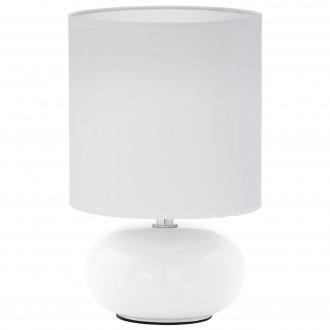 EGLO 93046 | Trondio Eglo asztali lámpa 27cm vezeték kapcsoló 1x E14 fehér