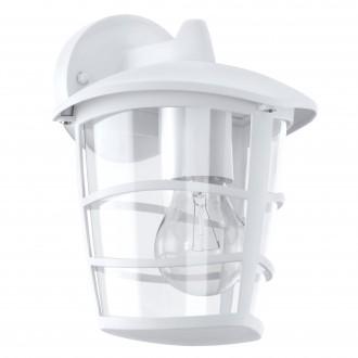 EGLO 93095 | Aloria Eglo falikar lámpa 1x E27 IP44 fehér, áttetsző