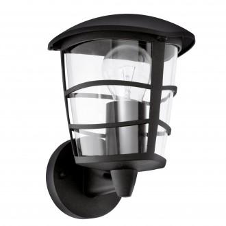 EGLO 93097 | Aloria Eglo falikar lámpa 1x E27 IP44 fekete, áttetsző