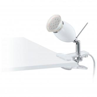 EGLO 93118 | Banny-1 Eglo csiptetős lámpa vezeték kapcsoló 1x GU10 240lm 3000K ezüst, króm, fehér