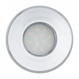 EGLO 93219 | Igoa Eglo beépíthető lámpa Ø85mm 3x GU10 1200lm 3000K IP44 króm