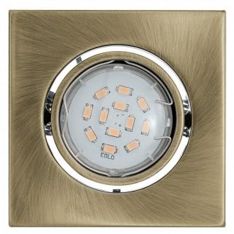 EGLO 93244 | Igoa Eglo beépíthető lámpa billenthető 95x95mm 1x GU10 400lm 3000K bronz