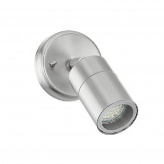 EGLO 93268 | Stockholm_LED Eglo fali lámpa elforgatható alkatrészek 1x GU10 400lm 3000K IP44 nemesacél, rozsdamentes acél, átlátszó