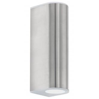 EGLO 93271 | Cabos Eglo fali lámpa 2x LED 360lm 3000K IP44 nemesacél, rozsdamentes acél