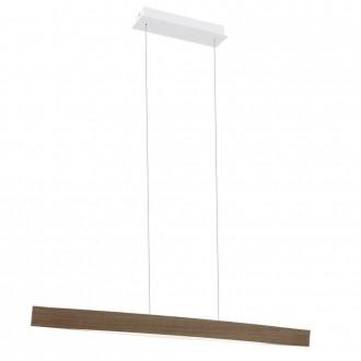 EGLO 93342 | Fornes Eglo függeszték lámpa 1x LED 1800lm 3000K tölgy, fehér