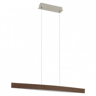 EGLO 93343 | Fornes Eglo függeszték lámpa 1x LED 1800lm 3000K dió, fehér