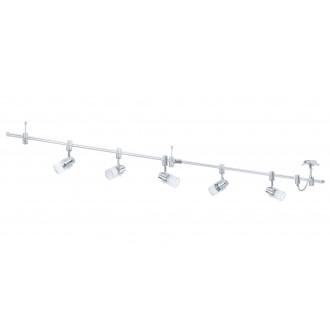 EGLO 93358 | Vilanova Eglo rendszer lámpa elforgatható alkatrészek 5x GU10 2000lm 3000K króm, fehér
