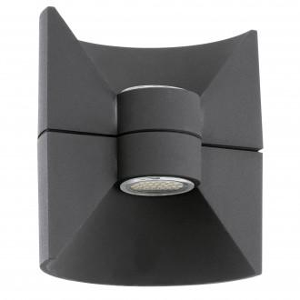 EGLO 93368 | Redondo Eglo fali lámpa 2x LED 360lm 3000K IP44 antracit