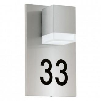 EGLO 93369 | Pardela_1 Eglo fali lámpa 1x LED 160lm 3000K IP44 nemesacél, rozsdamentes acél