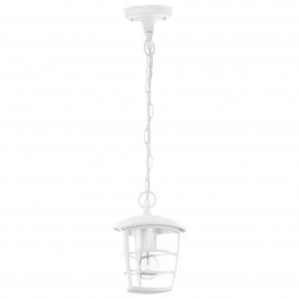 EGLO 93402 | Aloria Eglo függeszték lámpa 1x E27 IP44 fehér, áttetsző