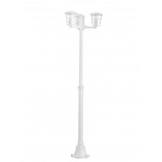EGLO 93405 | Aloria Eglo álló lámpa 180cm 3x E27 IP44 fehér, áttetsző