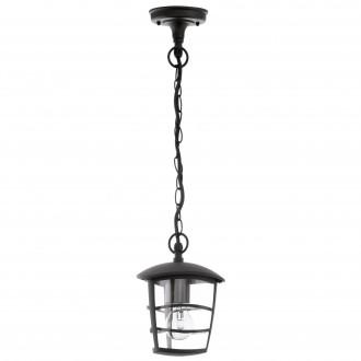 EGLO 93406 | Aloria Eglo függeszték lámpa 1x E27 IP44 fekete, áttetsző
