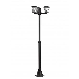 EGLO 93409 | Aloria Eglo álló lámpa 180cm 3x E27 IP44 fekete, áttetsző